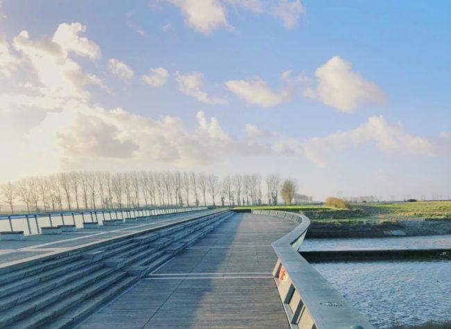 モンサンミッシェル近くの橋