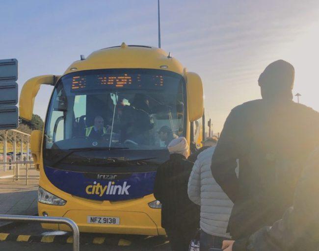 ケイルンライアン港からエジンバラへのバス