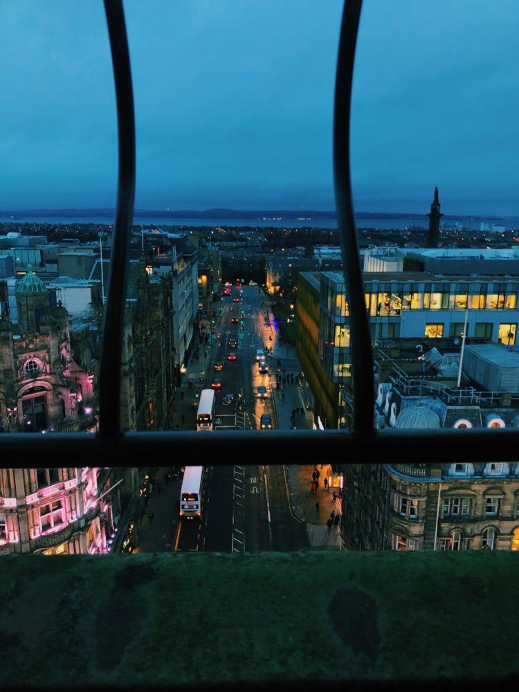 スコット記念塔からの夜景