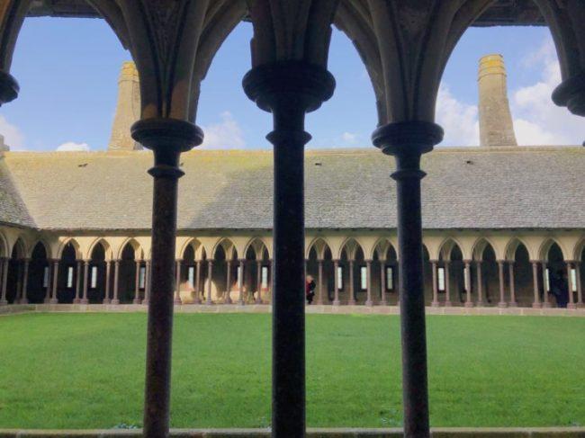モンサンミッシェル修道院の中