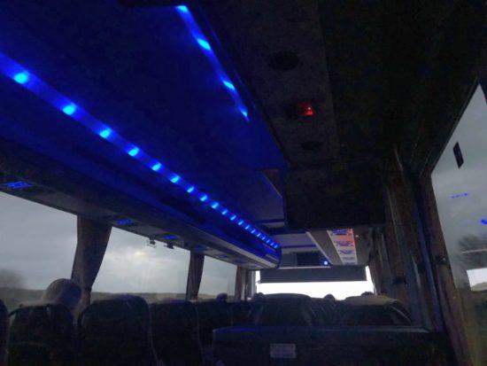 バス内の写真