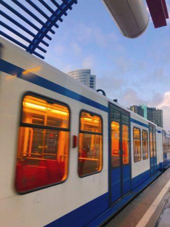 アムステルダムの電車