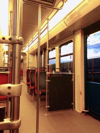 アムステルダムの電車内