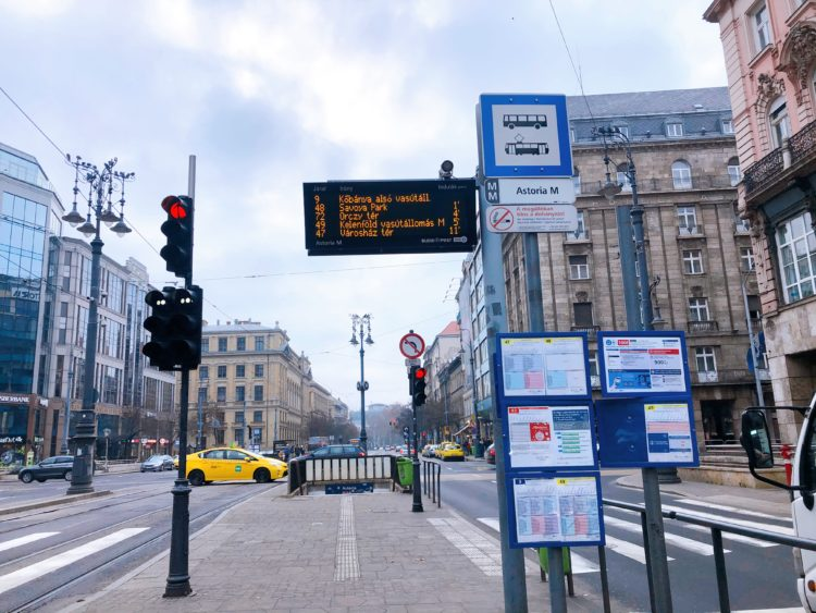 ブダペストのバス停