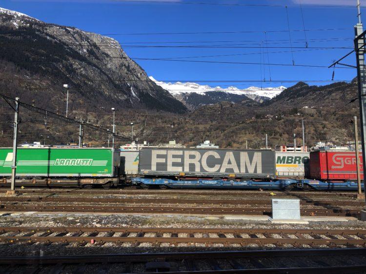 車窓 イタリア北部