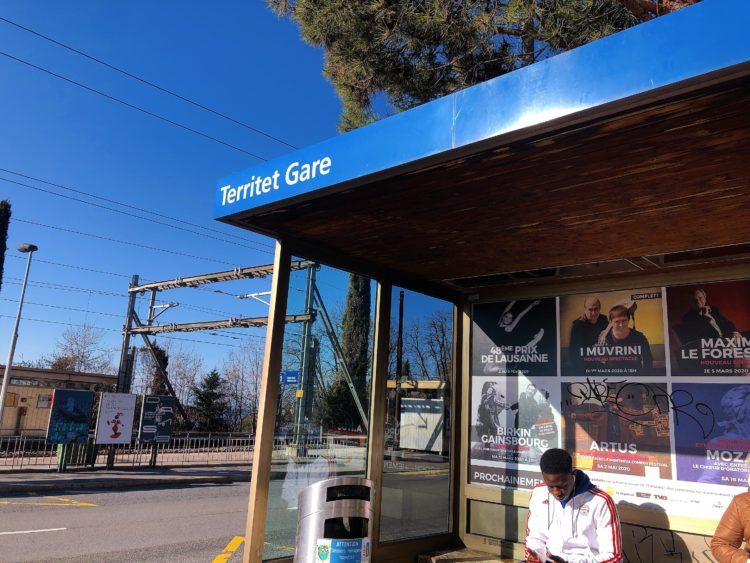 バス停 モントルー