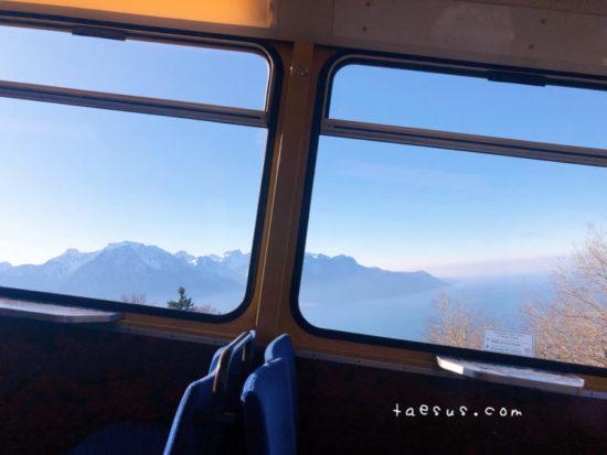 景色 モントルー ケーブルカー