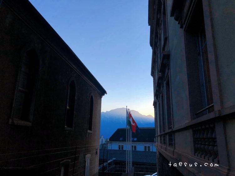 山 スイス モントルー