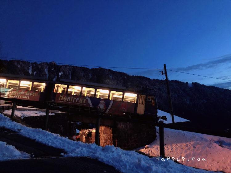 夜の列車 モントルー