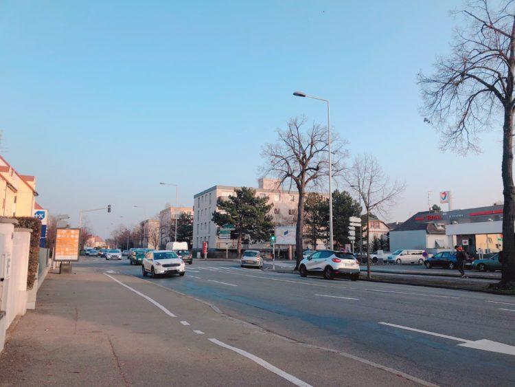道路 コルマール 市街