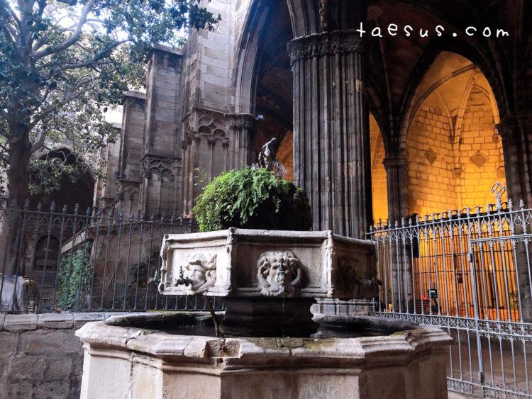 噴水 サンタ・エウラリア大聖堂