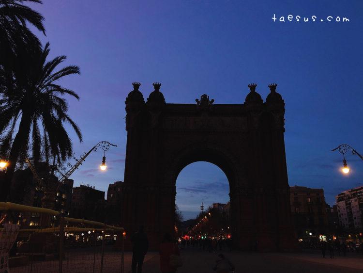 凱旋門 バルセロナ